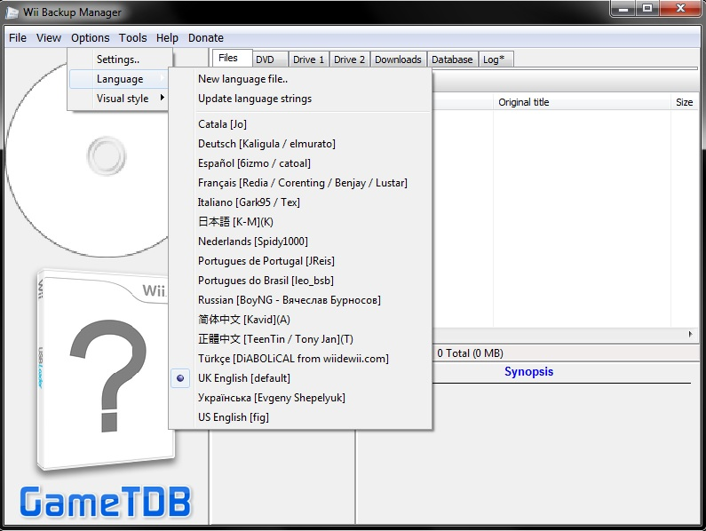 wii backup manager download italiano 64 bit